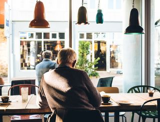 Old Man in Cafe