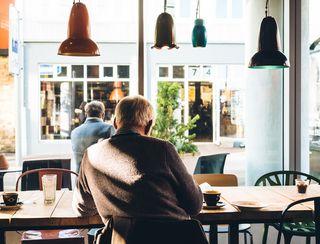 Old Man in Cafe